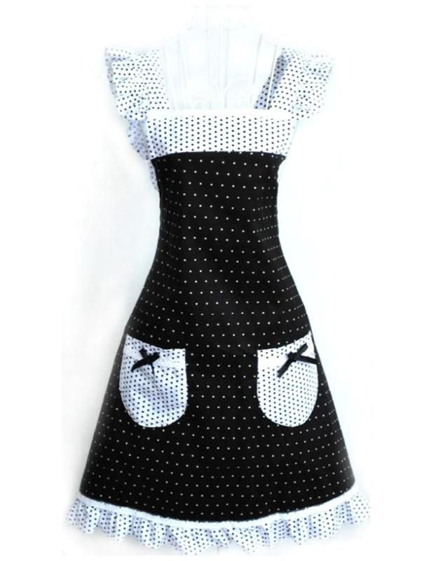 16 Retro Hostess Aprons ... for Brides & Bridesmaids {Black & White} ... #shower #gift