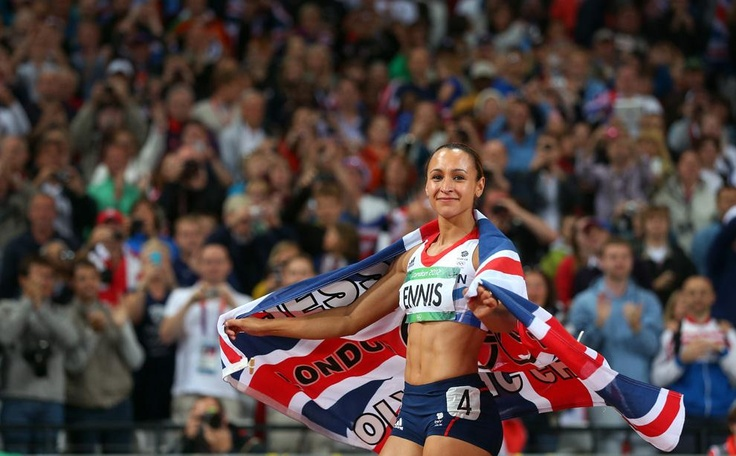 You will be seeing A LOT of the beautiful Jessica Ennis on this board because of how much of an inspiration she is to me. Here she is enjoying her Lap of Honour proudly flying her customised GB Flag on winning GOLD at London 2012 in the Heptathlon with a total of 6955 points. #JessicaEnnis #London2012 #Olympics #Athletics #Heptathlon #Hurdles #TeamGB #GBR #GreatBritain #Gold #Champion #OlympicChampion #SuperSaturday #Jess #TeamEnnis #Flag #Beautiful #Inspiration