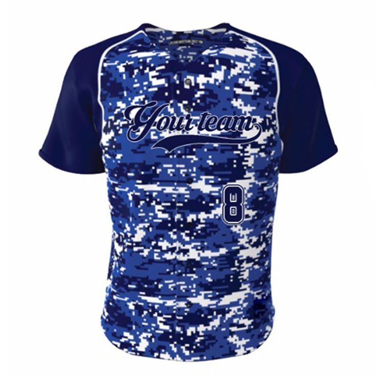 ==> [Free Shipping] Buy Best Latest Design Blue Camo High Quality Baseball jersey Quick Dry Softball jerseys Wholesale Mens & Women Racing Team Wear Shirt Online with LOWEST Price   32742120423