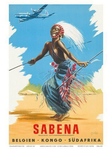 Sabena to the Congo ~ J. Pub