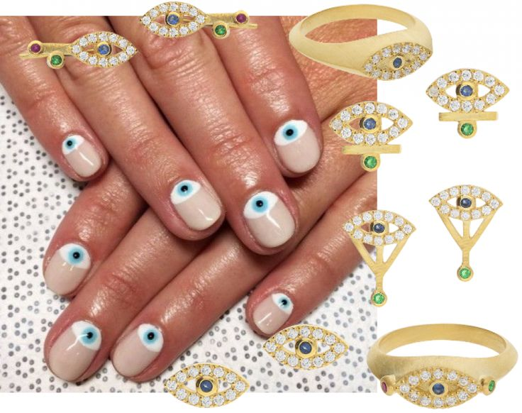 EYE SEE YOU http://hvi.sk/r/6xrd #Hvisk #Hviskjewellery #Hviskstyling #Gold #jewellery #Eye #nailpolish #Nailart