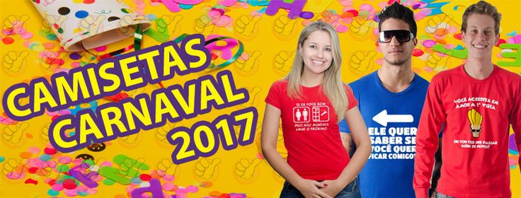 O CARNAVAL 2017 ESTÁ CHEGANDO e nós da loja Camisetas Beleza Garoto queremos ajudar os foliões com suas fantasias! Por isso separamos uma coleção de camisetas com estampas divertidas para a época festiva.   São camisetas inspiradas nas fantasias de super-heróis e frases divertidas!  COMPRE JÁ a sua camiseta de carnaval e faça a festa!!