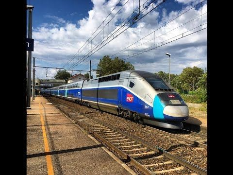 High speed Train ( TGV, Eurostar, AVE, OUIGO) in France - YouTube