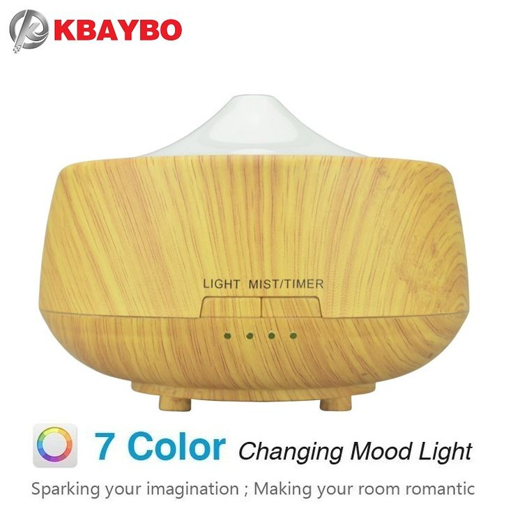 250ml Aroma Aromatherapy Humidifier 7 Color LED Wood Grain Essential Oil Diffuser Ultrasonic Air Purifier Mist Maker