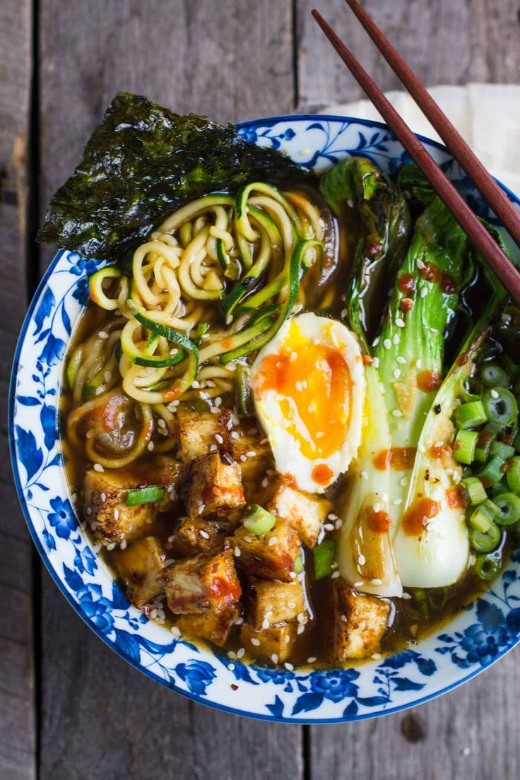 Zucchini Noodle Ramen Soup- this recipe is VERY easy to make, gluten free, vegetarian, and even VEGAN is you just leave off the soft boiled egg!