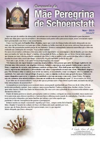 Informativo mãe peregrina de schoenstatt 30 novembro -- Santuário de Schoenstatt