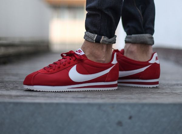 nike cortez homme rouge blanche