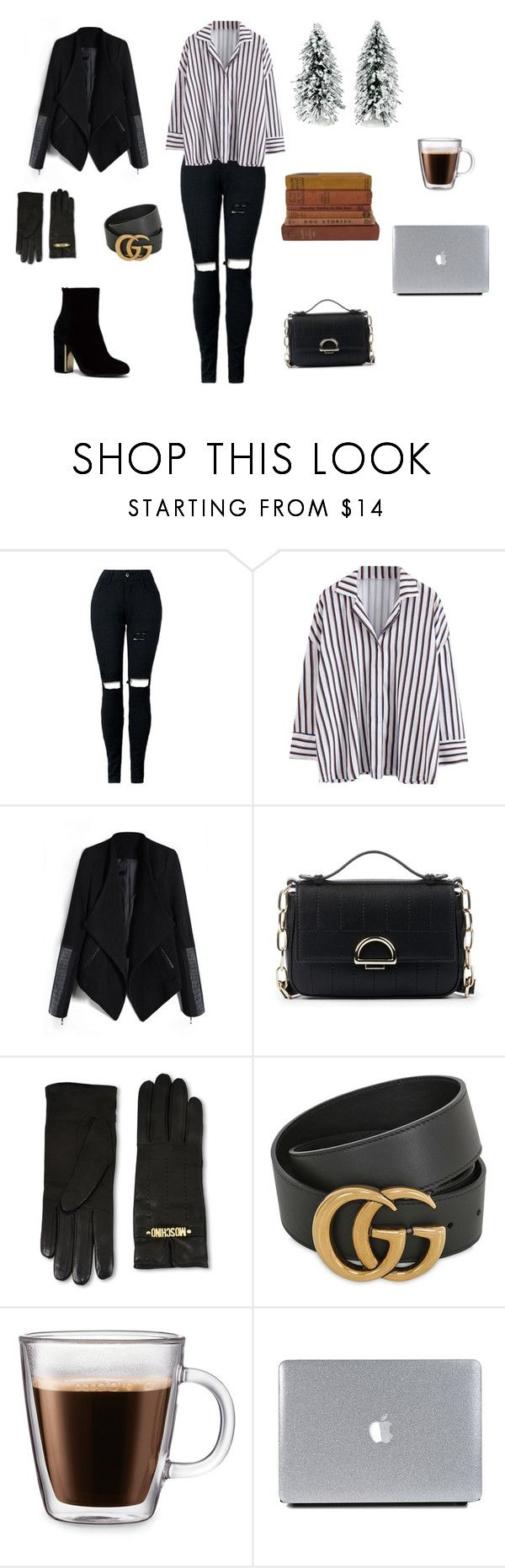 """Untitled #291"" by natalyholly on Polyvore featuring Sole Society, Moschino, Gucci, Frontgate and Vintage Collection"
