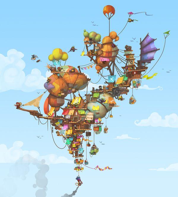 Monkey Quest by Eric Bellefeuille, via Behance
