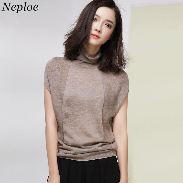 17,19 EUR, inkl. Versand: Neploe Hot Sale Turtleneck Women Sweaters New Fashion Casual Loose Short Sleeve Pullover Autumn Ladies Knitted Sweater 65604-in Pullovers from Women's Clothing & Accessories on Aliexpress.com | Alibaba Group