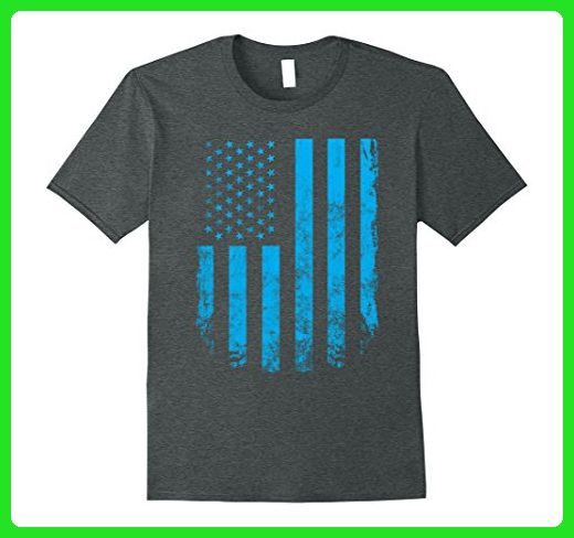 Mens Cool Vintage USA Flag T Shirt 4th of July Fathers Day Gift XL Dark Heather - Cities countries flags shirts (*Amazon Partner-Link)