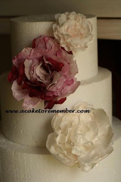 Cake Decorating With Edible Paper : 489 best Wafer paper flowers/papel arroz images on ...