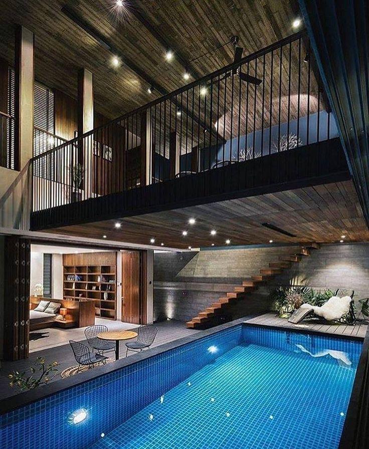 Garten, Architekturdesign, Architekturmagazine, Kleine Häuser,  Wohnzimmerinnenraum, Poolpartys, Haus Innenräume, Arquitetura