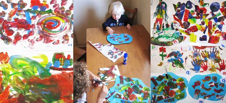 What to do with all those kindy paintings! Art ideas from Sarah Tamblyn Designs. Fun Prints for Little People.