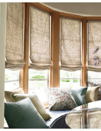 Smith Noble Relaxed Roman Fabric Shades In Linen