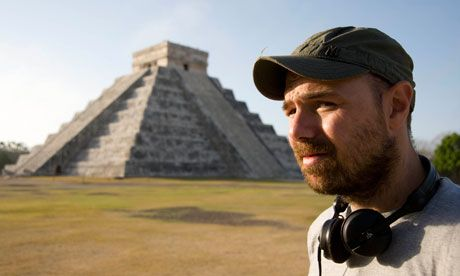"""visiting mexico, listening to Depesh Mode. """"A pyramid with a bungalow on top""""."""