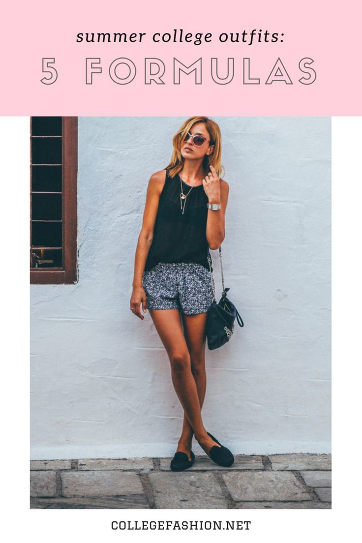 5 Summer College Outfits - Outfit Formulas for Summer - College Fashion