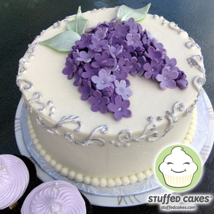 Small violet wedding cake - Google Search