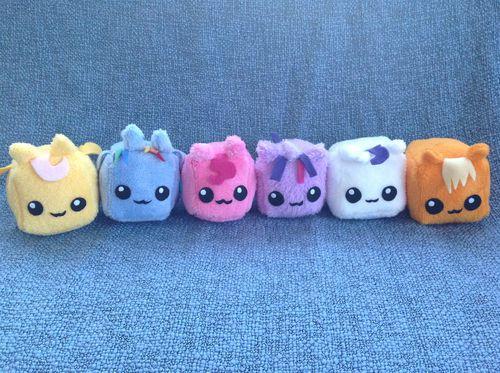 My Little Pony: Friendship is Magic Custom Mini Cube Plush Mane Cast 6-Pony Set