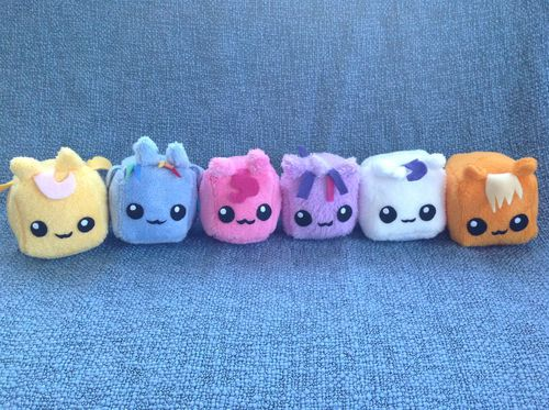 My Little Pony: Friendship is Magic Custom Mini Cube Plush Mane Cast 6-Pony Set