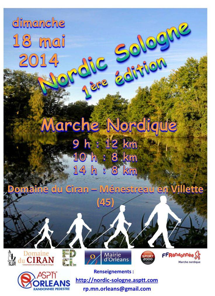 1ère édition de marche nordique en Sologne