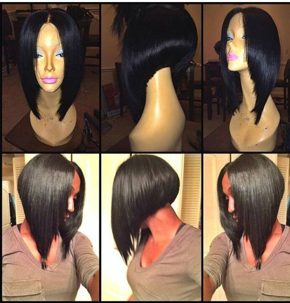 Lace closure wig bob by OvernightBoutique on Etsy