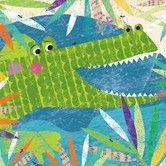 Found it at Wayfair - Peeking Jungle Buddies Crocodile Canvas Art
