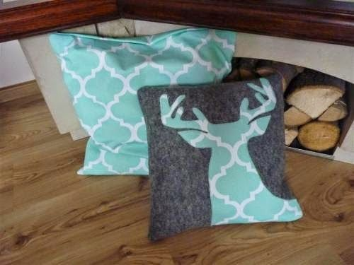 mint, christmas, decorations, pillow, reindeer