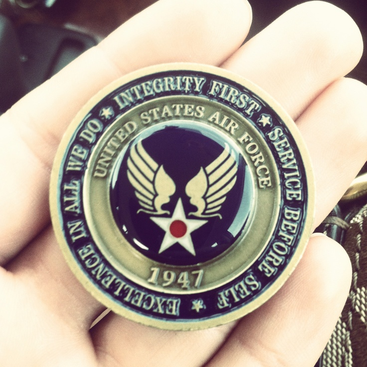 Air Force basic training coin