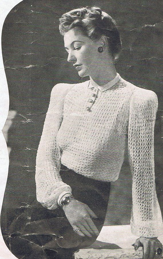 1940s Vintage Knitting Patterns PDF Copy of by GrannyspdfPatterns