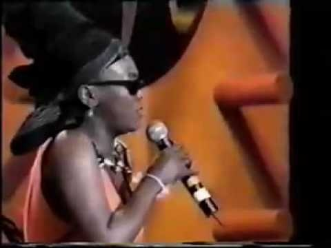 In memory of Brenda Fassie SouthAfrican singer shown here trying to persuade Mandiba  Nelson Mandela to dance.... even if you don't know who she was the music totally rock and u'll enjoy it : )
