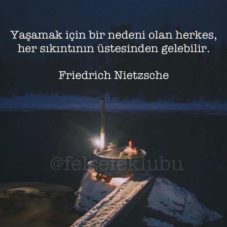 ✔Yaşamaq üçün bir səbəbi olan hər kəs, hər bir sıxıntının öhdəsindən gələ bilər. #Friedrich_Nietzsche
