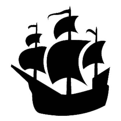 Pirate ship clip art black and white - photo#27