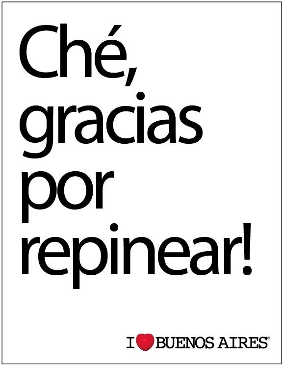 Ché, gracias por repinear! #argentina