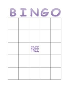 This Is A Blank Bingo Card That Can Be Used In Many Subject Areas Blank Bingo Cards Bingo Cards Bingo