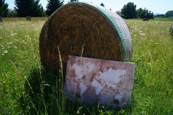 Vintage Stamp Map with hay Bale - 2 | Picture from our friends!