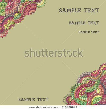Hand drawn tribal background - stock vector
