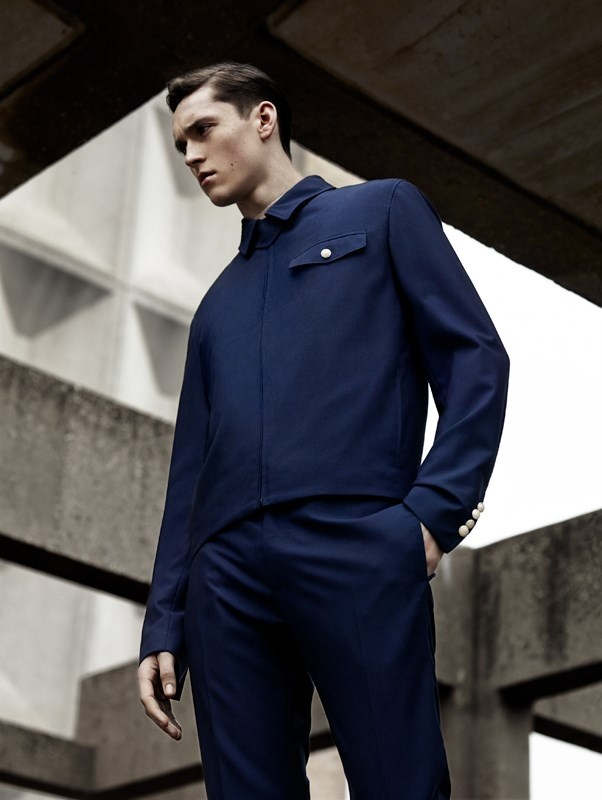 """Anders Hayward in the editorial """"Crisp, Clean Lines"""" about Dior Homme Collection by Greg Harris"""