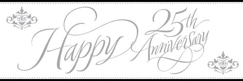 25th Silver Anniversary Wedding Party Banners