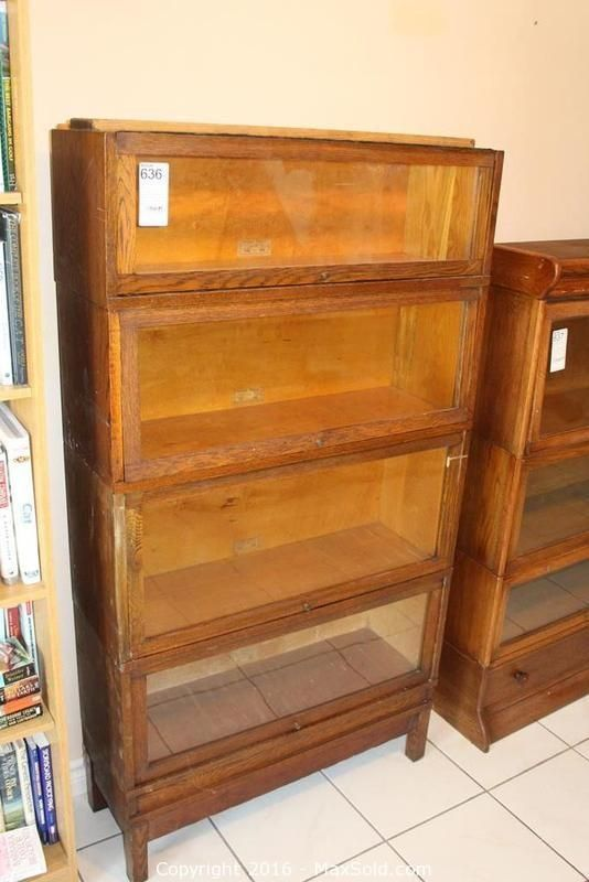 Barristers Book Case sold on MaxSold for $220