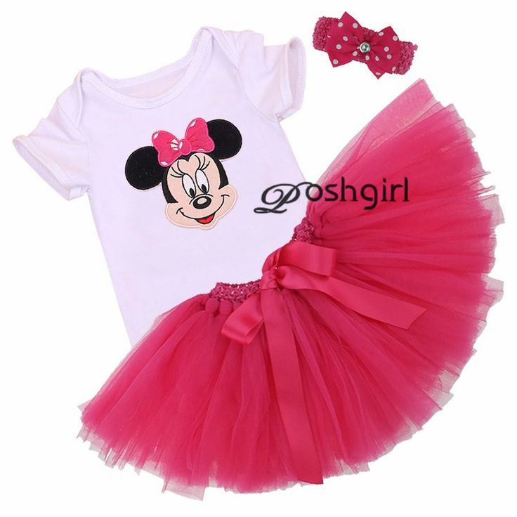 Cartoon Mickey Minnie Baby Girl Vestido Toddler Clothing Newborn Birthday Party Tutu Skirts Para Bebe Wedding Coveralls Jumper #Affiliate