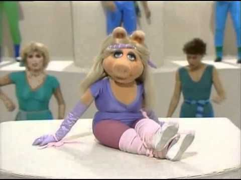 Miss Piggy Snackcercise- Miss Piggy can teach you all you need to know about Snackcercise.