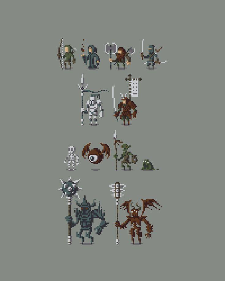 Pixel Characters by ObinSun.deviantart.com on @deviantART