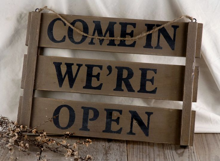 Sorry We're Closed - Come In We are Open Wood Sign (17x12) $32