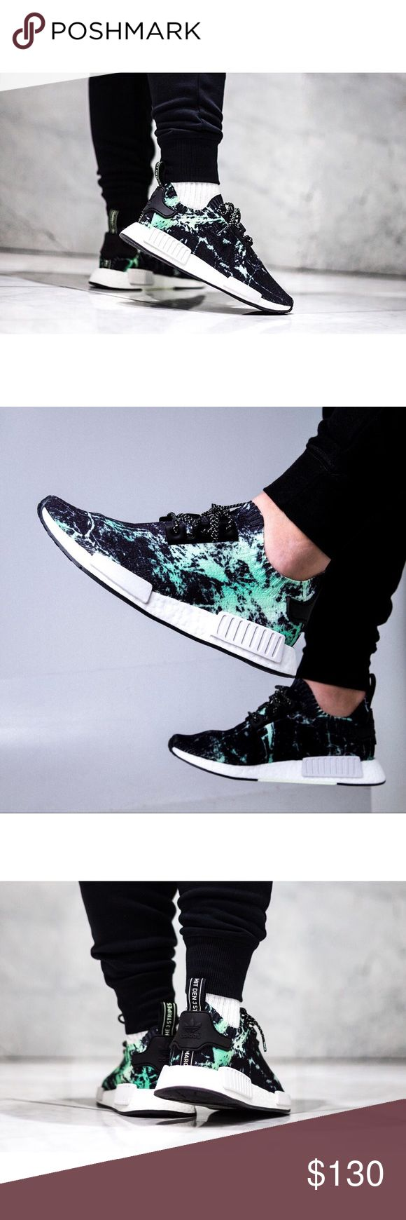 "Adidas NMD R1 Primeknit Men's Adidas NMD R1 PK ""Mint Marble"" **NEW with Box** 100% Authentic  *Additional set of black laces included* Color: Bl…"