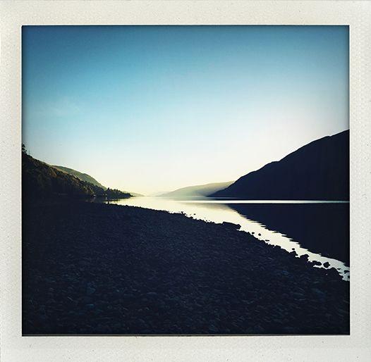 Sunset at Lloch Lochy, Scotland.