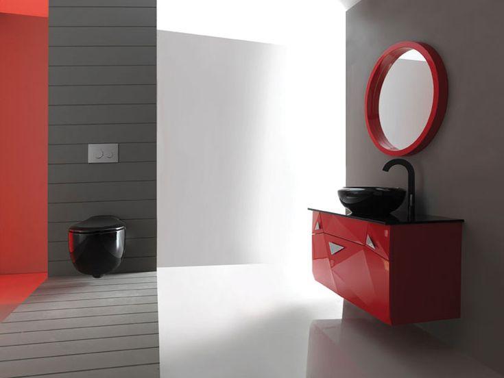 """DIAMOND"" BATHROOM FURNITURE,home,new,interior design,accesories,set,new,style,bath,tiles,product,idea,decoration,woman,mirror,porcelain,επιπλο μπανιου,μπανιο,νιπτηρας,καθρεπτης,πλακακια,idea,spa,architecture,decoration,RED,BLACK,GREY,WHITE"