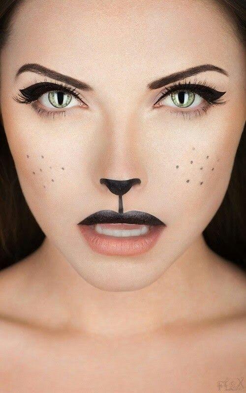 Pintar la cara gato mujer en DEF deco | Decorar en familia