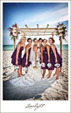 deep purple bridesmaids!