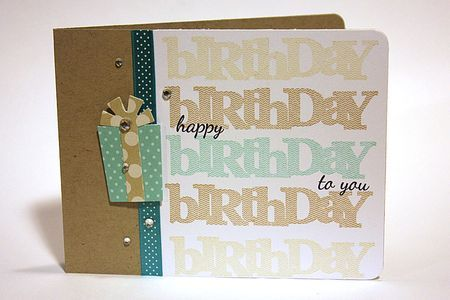 Happy Birthday To You Card by Heather Nichols for Papertrey Ink (March 2013)